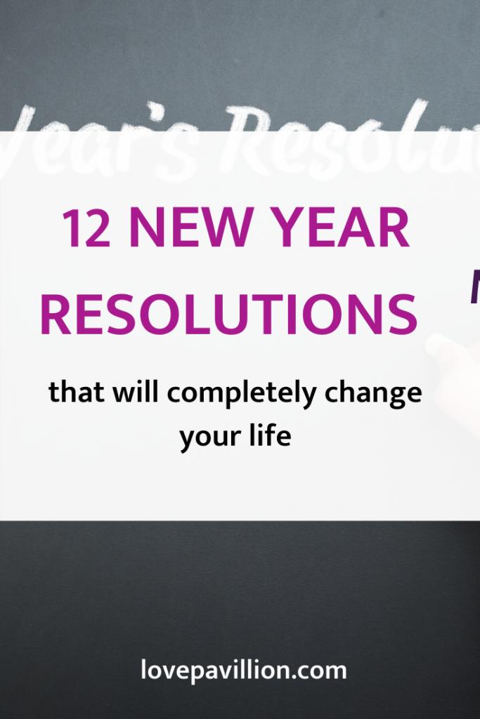 new year resolution 2020